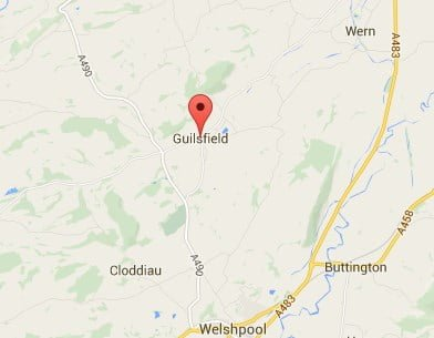 Window, Conservatory & Gutter Cleaning Guilsfield Map