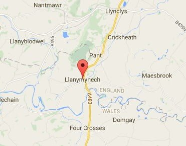 Window, Conservatory & Gutter Cleaning Llanymynech Map