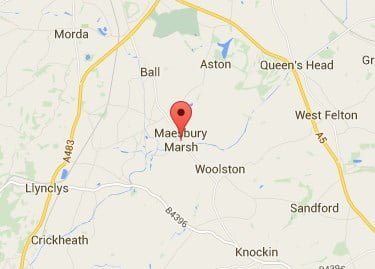 Window, Conservatory & Gutter Cleaning Maesbury Marsh Map