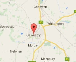 Window, Conservatory & Gutter Cleaning Oswestry Map