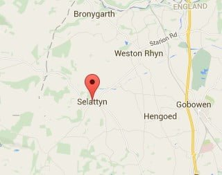 Window, Conservatory & Gutter Cleaning Selattyn Map