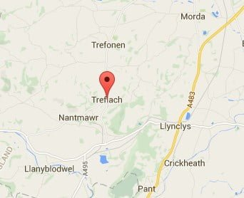 Window, Conservatory & Gutter Cleaning Treflach Map