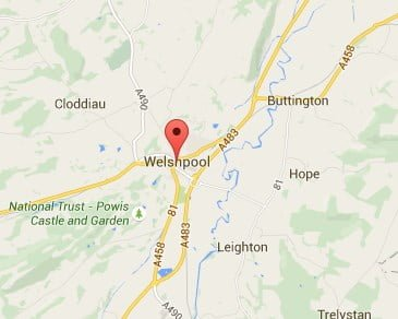 Window, Conservatory & Gutter Cleaning Welshpool Map