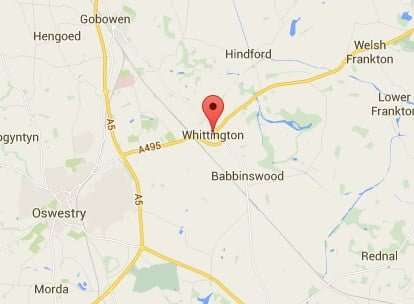 Window, Conservatory & Gutter Cleaning Whittington Map
