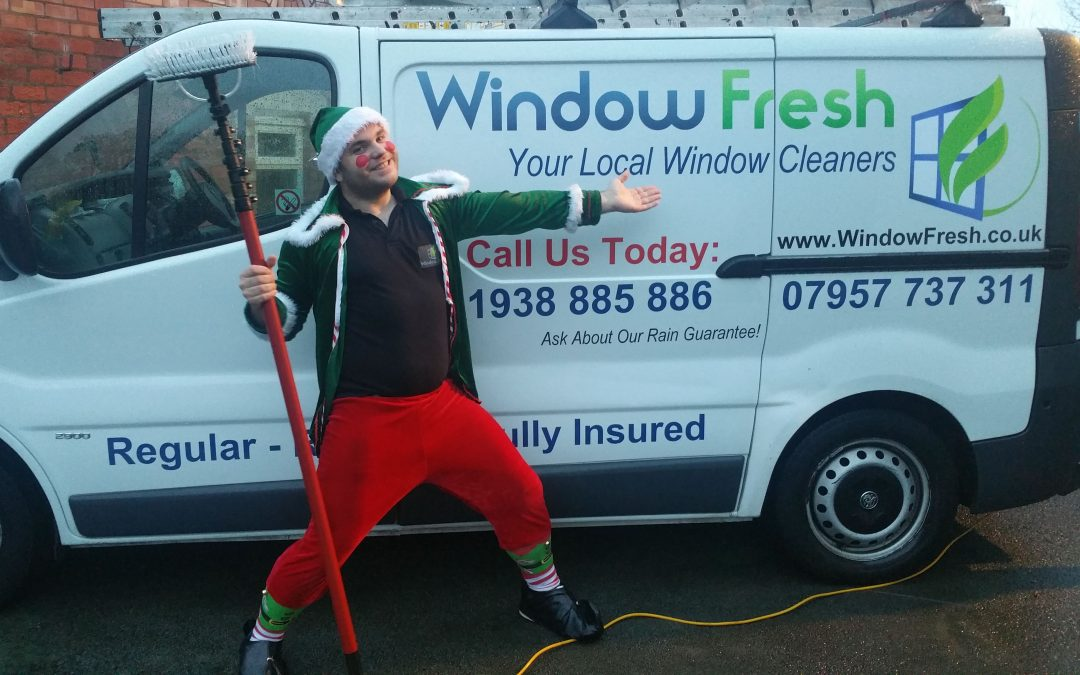 The Window Cleaning Elf… Spreading Christmas Joy To All